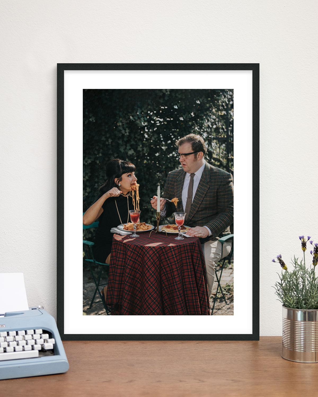 Rahmen: Schwarz - Eat Spaghetti - Sixties Project