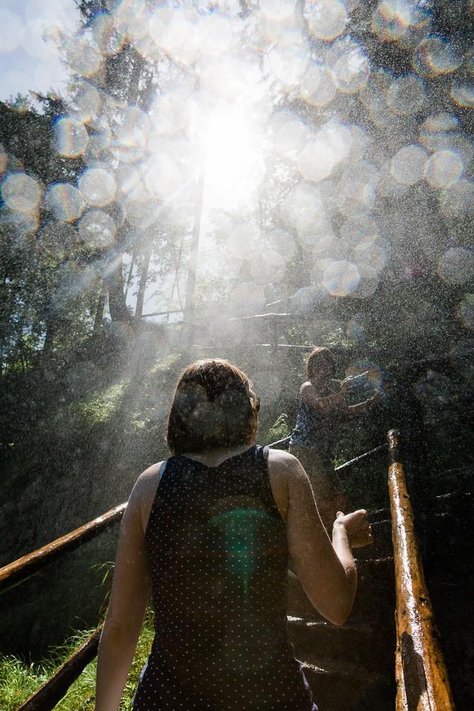 Gollinger Wasserfall erfrischung