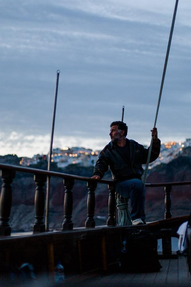 Bootsfahrt Santorini