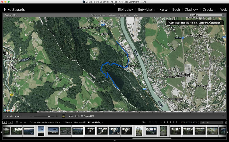 GPS Tracker Daten im Lightroom synchronisieren