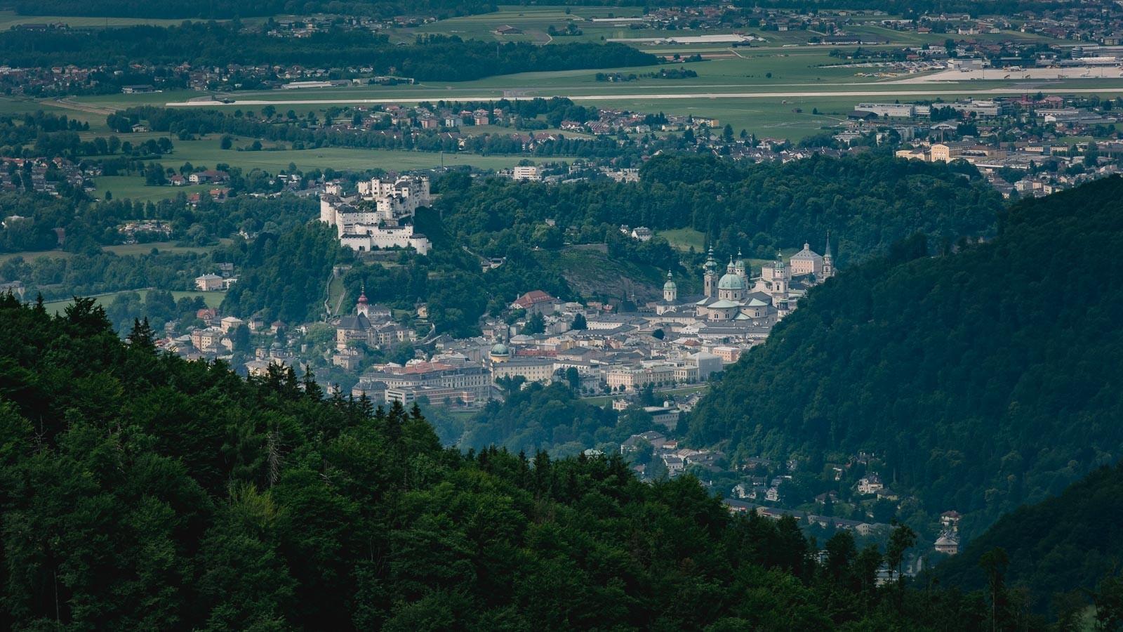Blick auf die Stadt Salzburg vom Nockstein
