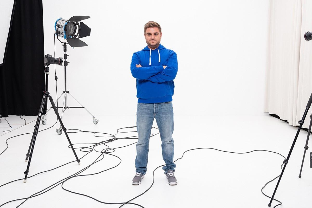 Niko Zuparic ein Portrait im Studio